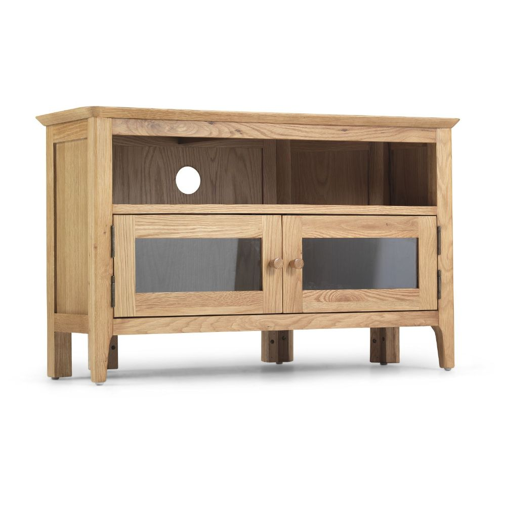 Stanton Oak Glazed Corner TV Unit